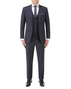 Mac Tailored Suit Navy / Grey Check
