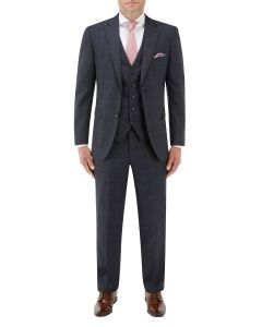 Momoa Suit Navy Check
