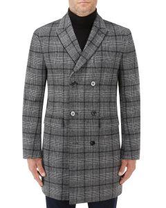 Porter Charcoal Check Overcoat