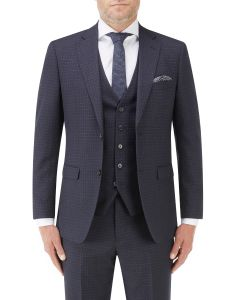 Mac Tailored Suit Jacket Navy / Grey Check