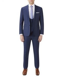 Milan Slim Suit Blue