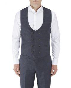Staunton DB Suit Waistcoat Navy Check
