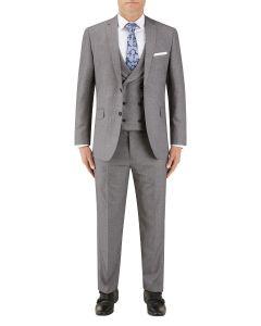 Harcourt Slim Suit Silver