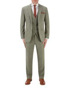Jude Suit Sage Herringbone