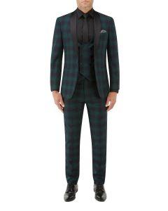 Sanchez Suit Navy / Green Check