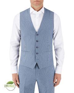 Pepe Suit Waistcoat Blue Check