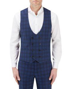 Felix Suit DB Waistcoat Blue Check