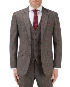 Havlin Suit Jacket Grey / Red Overcheck