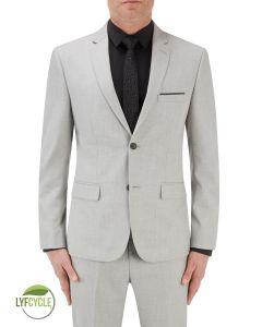 Sultano Suit Slim Jacket Silver