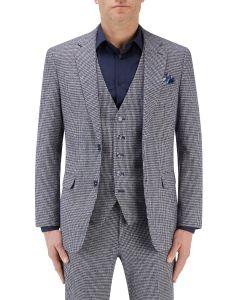 Keller Suit Jacket Navy Dogtooth