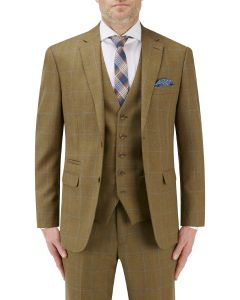 Bailey Suit Jacket Lovat with Blue Check