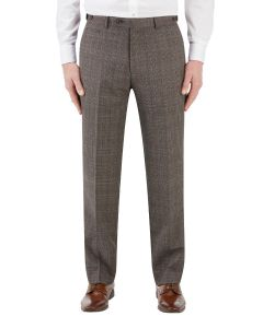 Havlin Suit Trouser Grey / Red Overcheck