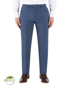 Morelli Suit Tapered Trouser Blue Check
