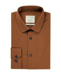 Lyfcycle Slim Formal Shirt Rust