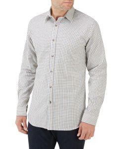 Cream Multi Check Casual Shirt