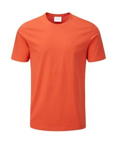 Joe Crew Neck Cotton T-Shirt Burnt Orange