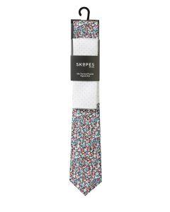 Multi Coloured / Polka Dot Silk Tie and Pocket Square