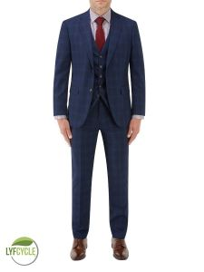Suddard Suit Navy Check