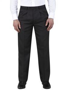 Waterford Black Twin Pleat Trouser