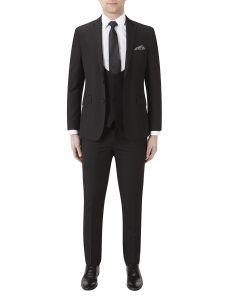 Milan Slim Suit Black