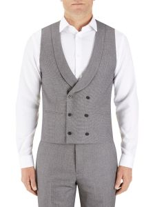 Harcourt DB Waistcoat Silver