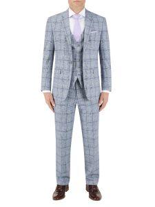 Stark Suit Grey / Blue Check