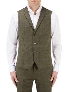 Bramwell Suit Waistcoat Lovat Check