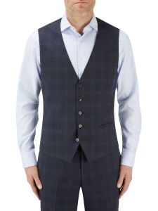 Piper Suit Waistcoat Navy Check