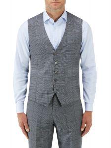 Tudhope Suit SB Waistcoat Blue Check