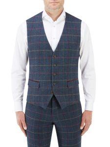 Doyle Suit Waistcoat Navy Check
