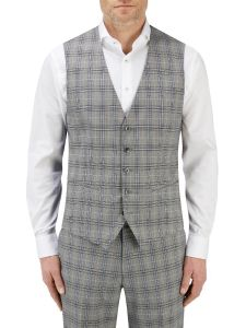 Sommer Suit Waistcoat Grey Check