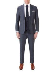 Harcourt Slim Suit Blue