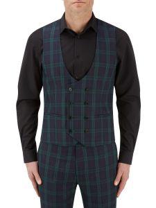Ramsay Suit DB Waistcoat Charcoal / Green Check