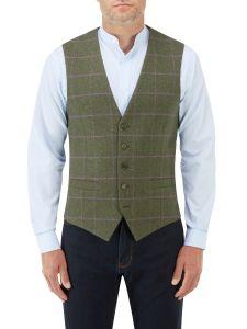 Crowley Waistcoat Olive Check