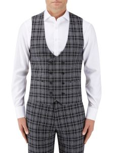 Kiefer Suit DB Waistcoat Black / Grey Check