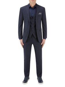 Dacre Suit Navy / Wine Check