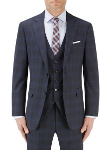 Piper Suit Jacket Navy Check