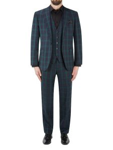 Ramsay Suit Charcoal / Green Check