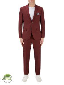 Sultano Slim Suit Brick Red