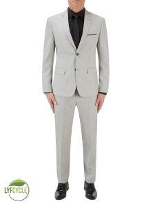 Sultano Slim Suit Silver