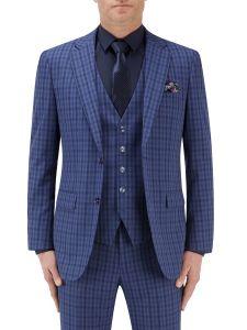 Tucci Suit Jacket Blue Check