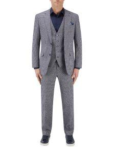 Keller Suit Navy Dogtooth