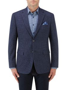 Ellis Textured Jacket Blue