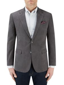 Regis Suede Effect Jacket Slate
