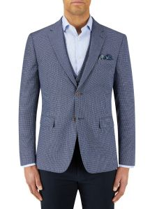 Rugani Micro Weave Jacket Blue