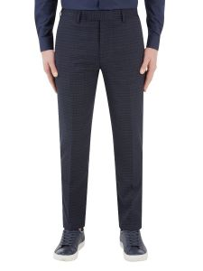 Dacre Suit Tapered Trouser Navy / Wine Check