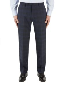 Piper Suit Trouser Navy Check