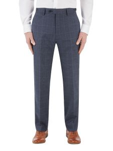 Anello Suit Tailored Trouser Blue Check