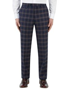 Seeger Suit Tailored Trouser Navy Check