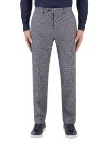 Keller Suit Trouser Navy Dogtooth
